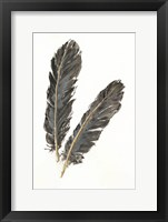Framed Gold Feathers IV
