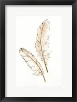 Framed Gold Feathers I