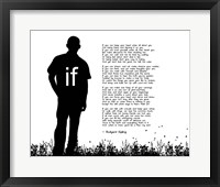 Framed If by Rudyard Kipling - Man Silhouette White