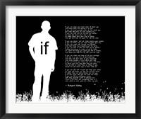 Framed If by Rudyard Kipling - Man Silhouette Black