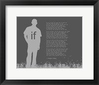 Framed If by Rudyard Kipling - Man Silhouette Gray