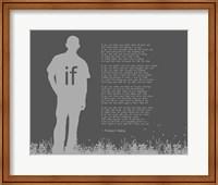 Framed If by Rudyard Kipling - Man Silhouette Gray