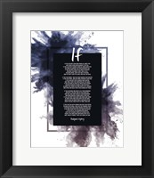 Framed If by Rudyard Kipling - Powder Explosion Blue