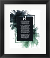 Framed If by Rudyard Kipling - Powder Explosion Green