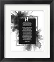 Framed If by Rudyard Kipling - Powder Explosion Gray