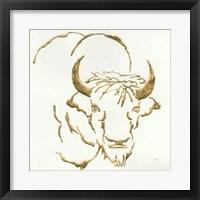 Framed Gilded Bison