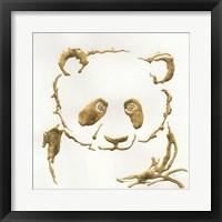 Framed Gilded Panda