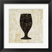 Framed Cheers for Beers Goblet