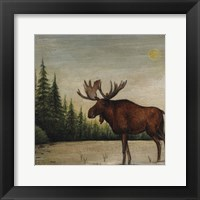 Framed North Woods Moose II