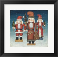 Framed Santa Nutcrackers Snow