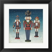 Framed Soldier Nutcrackers Snow