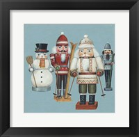 Framed Skier Nutcrackers