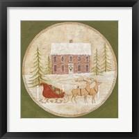 Framed Santas Sleigh