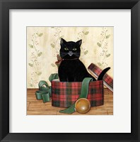 Framed Christmas Kitty IV