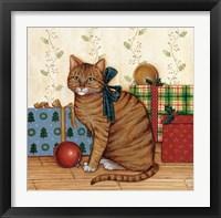 Framed Christmas Kitty II