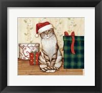 Framed Christmas Kitty  III