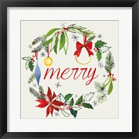 Watercolor Christmas VIII Framed Print