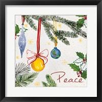 Framed Watercolor Christmas III