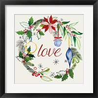 Watercolor Christmas V Framed Print