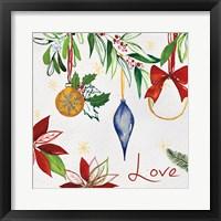 Framed Watercolor Christmas II