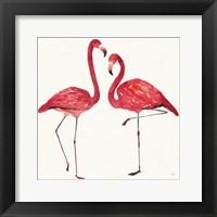 Framed Tropical Fun Bird IV