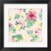 Tropical Fun Pattern VII Framed Print