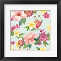 Tropical Fun Pattern VI Framed Print