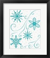 Christmas Otomi Tile I Framed Print