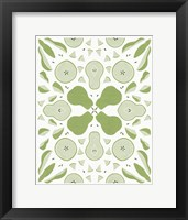 Framed Retro Pear Otomi Monotone