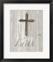 Framed Words for Worship Faith on Wood