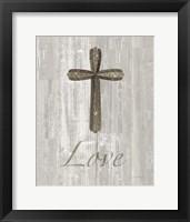 Framed Words for Worship Love on Wood