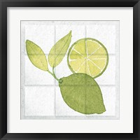 Framed Citrus Tile VII