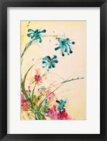 Framed Blooming Blue