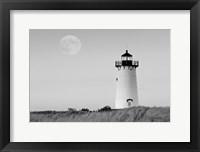 Framed Moon over Marthas Vineyard BW