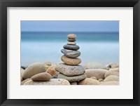 Framed Stonewall Beach Cairn