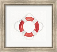 Framed Coastal Icon I Red