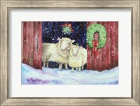 Framed Christmas Sheep