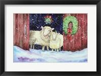 Framed Christmas Sheep