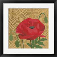 Framed Poppy with Pattern