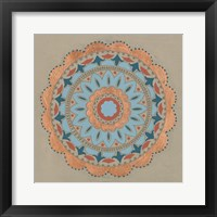 Framed Copper Mandala I