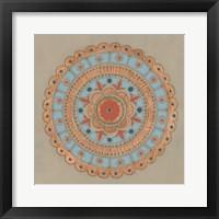 Framed Copper Mandala II