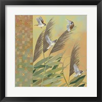 Framed Sparrows and Phragmates August Evening