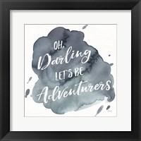 Watercolor Wanderlust Adventure I Framed Print