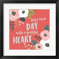 Framed Wildflower Daydreams VII Grateful Heart