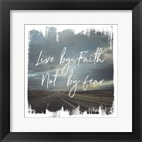 Wild Wishes II Live by Faith Framed Print