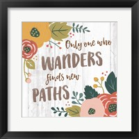 Wildflower Daydreams VI Spice on Shiplap Framed Print