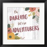 Wildflower Daydreams V Spice on Shiplap Framed Print