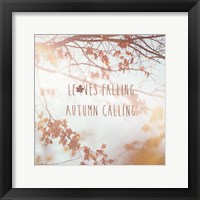 Framed Autumn Calling I