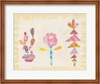 Framed Collage Cactus IX