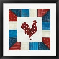 Framed Modern Americana Farm Quilt III